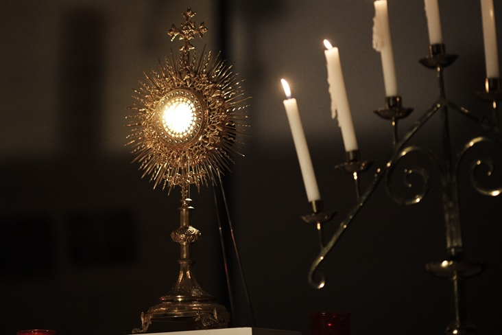 People get to participate in an evening of Eucharistic Adoration; the pinnacle of the conference.