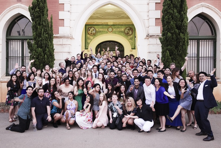Participants of Embrace the Grace 2016 gather for a group photo outside St. Gertrude's College, New Norcia.